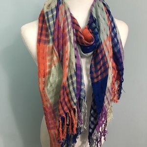 Ketzali | Hand Loomed Hand Dyed Fringed Scarf